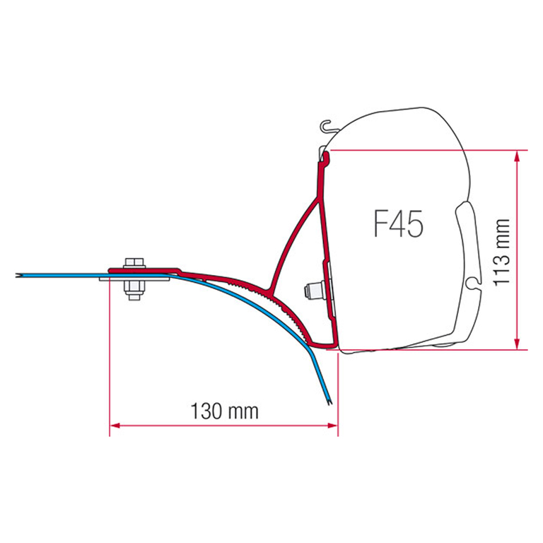 Levně Střešní Kit pro markýzu F45 Fiamma na Fiat Ducato, Renault Master