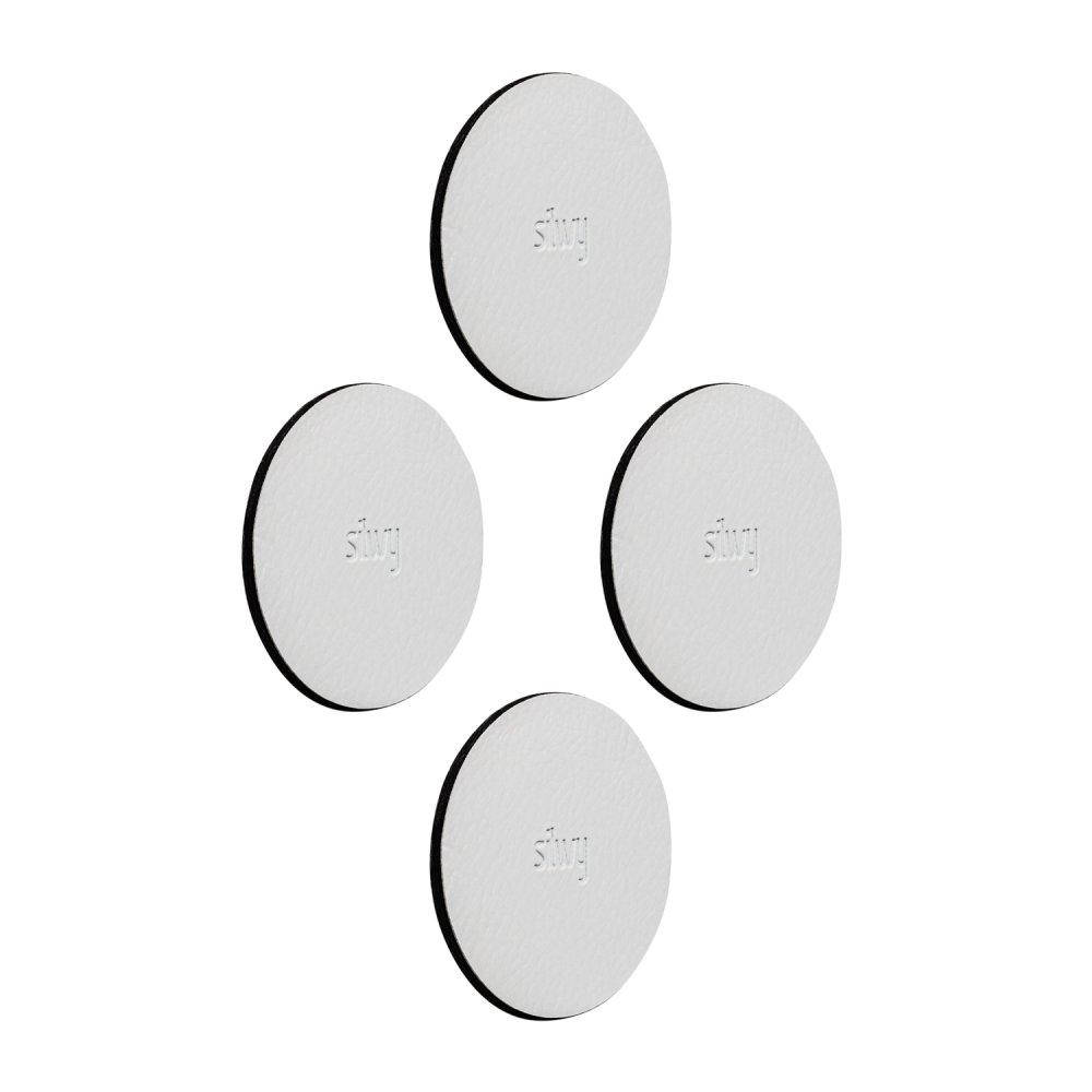 Silwy podložka na magnetické držáky 5 cm, 4 ks Bílá