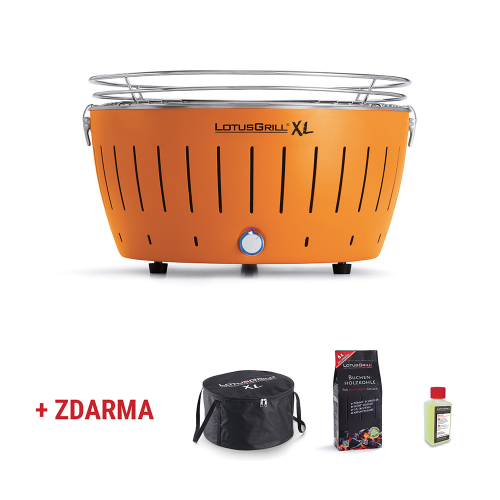 LotusGrill XL + ZDARMA zaváděcí sada Oranžová