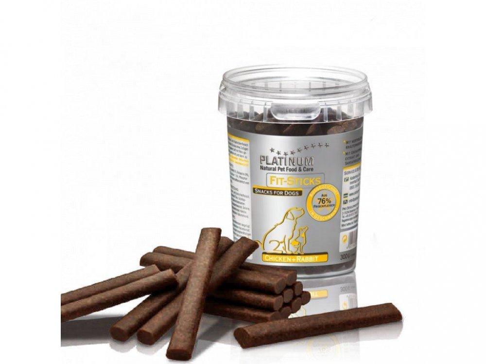 Platinum Natural Fit-Sticks Chicken & Rabbit - Kuře & Králík tyčinky 300g