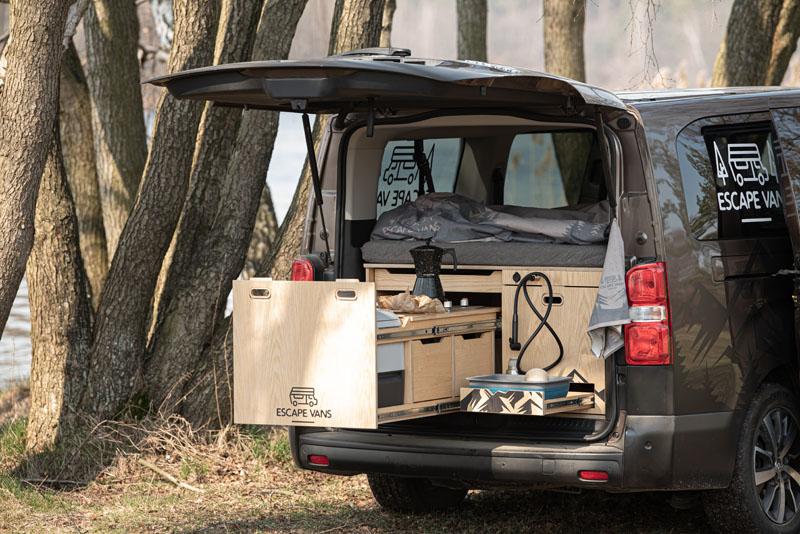 Escape Vans Vestavba do auta Tour Box L/XL Jasan L